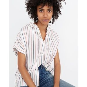 Madewell Central Oversized Shirt Sadie Stripe